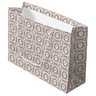 Paws-for-Giving Gift Bag  (Taupe)