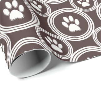 Paws-for-Giving Gift Wrap (Chocolate)
