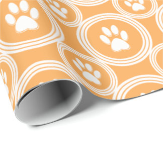Paws-for-Giving Gift Wrap (Marigold) Wrapping Paper