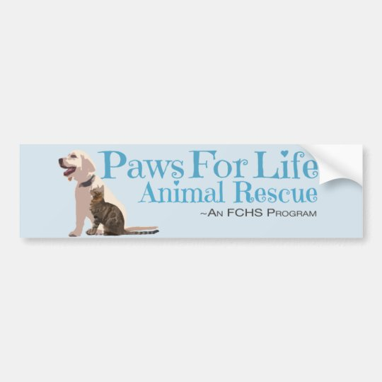 Paws For Life Animal Rescue Bumper Sticker