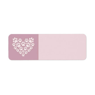 Paws for Love Return Address Labels