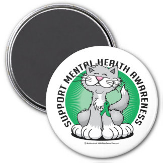 Paws for Mental Health Cat Magnet