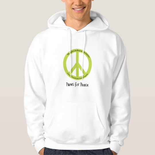 Paws for Peace Hooded sweatshirt