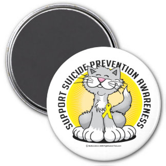 Paws for Suicide Prevention Cat Magnet