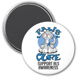 Paws for the Cure ALS Cat Fridge Magnet