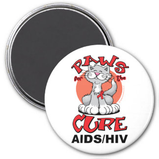 Paws for the Cure Cat AIDS Refrigerator Magnet