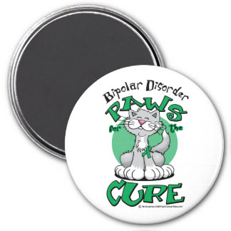 Paws for the Cure Cat Bipolar Disorder 7.5 Cm Round Magnet