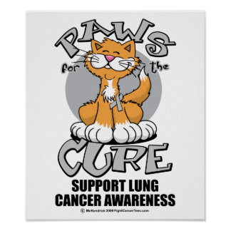 Paws for the Cure Cat Lung Cancer Print