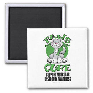 Paws for the Cure Cat Muscular Dystrophy Square Magnet