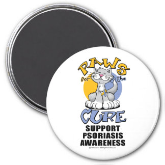 Paws for the Cure Cat Psoriasis Refrigerator Magnets