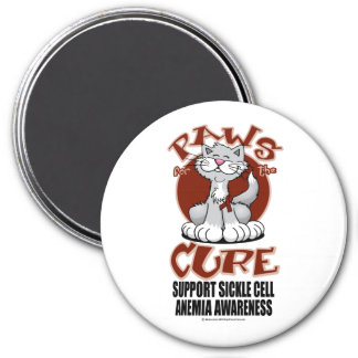 Paws for the Cure Cat SCA 7.5 Cm Round Magnet