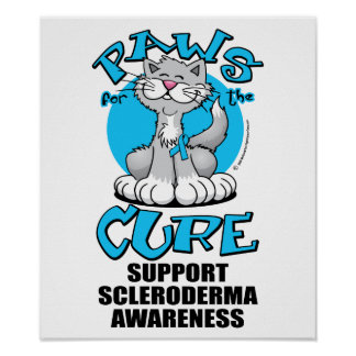 Paws for the Cure Cat Scleroderma Poster