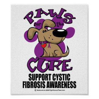 Paws for the Cure Cystic Fibrosis Print