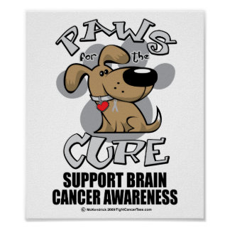 Paws for the Cure Dog Brain Cancer Posters