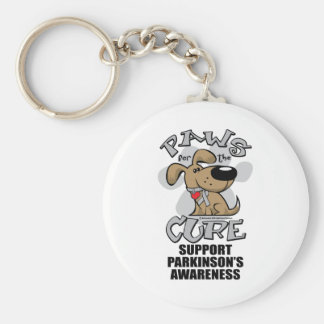 Paws for the Cure Dog Parkinson's Disease Basic Round Button Key Ring