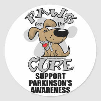 Paws for the Cure Dog Parkinson's Disease Round Sticker