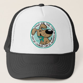 Paws for the Cure Ovarian Trucker Hat