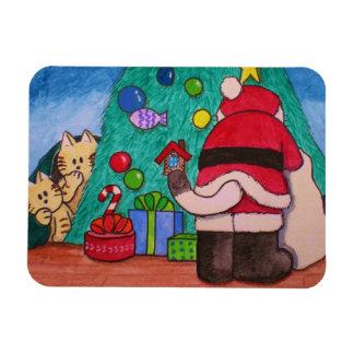 """Paws Here Premium Magnet """"Santa Cat Exist!"""""""