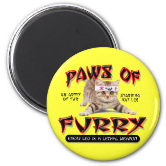 Paws Of Furry 6 Cm Round Magnet