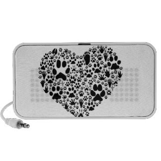 Paws of the Heart Mini Speakers