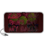 PAWS OFF MY BALLS iPhone SPEAKERS