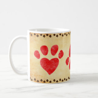 """Paws on Parchment"" Customizable Coffee Mug"