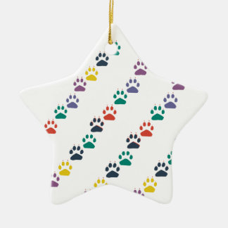 Paws & Paws Rainbow Colorful Domestic Animal Christmas Ornament