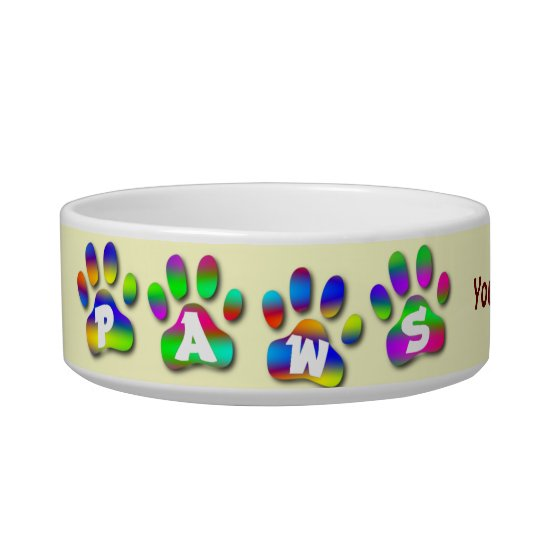 Paws Personalised Dish For Your Pet Dog or Cat