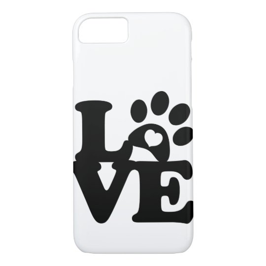 Paws Print Heart - Paw Print  for DOG lovers iPhone 8/7 Case