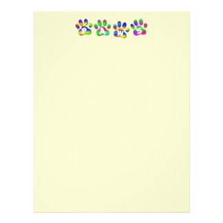 Paws Rainbow Color Pawprints Letter Flyers