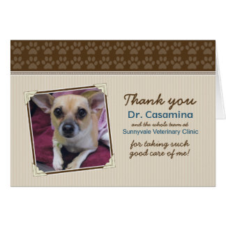 Paws Thank You Card for the Vet (taupe/brown)