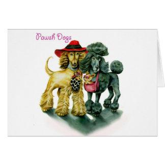 Pawsh Dogs Greeting Card