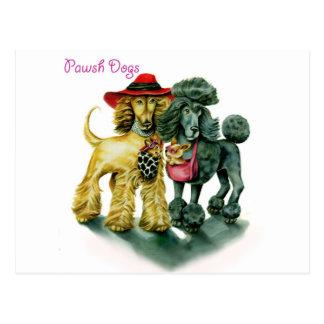 Pawsh Dogs Postcard