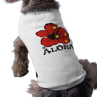 PawsID Dog Shirt Aloha Red Original Design