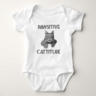 Pawsitive Cattitude Cat Baby Bodysuit