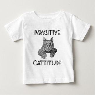 Pawsitive Cattitude Cat Baby T-Shirt
