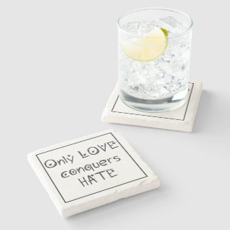 Paxspiration Only Love Marble Coaster Stone Beverage Coaster