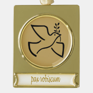 Paxspiration PAX VOBISCUM Banner Ornament