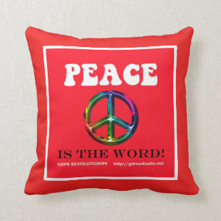 Paxspiration Peace Is the Word Throw Pillow