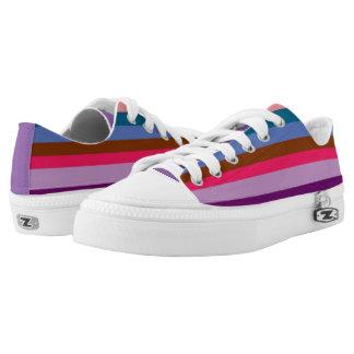 Paxspiration Peace Stripes Zipz Low Top Sneakers