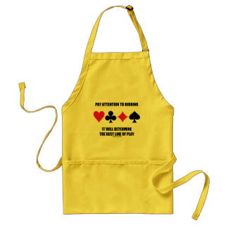 Pay Attention To Bidding Will Determine Best Line Standard Apron