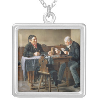 Pay Day, 1887 Silver Plated Necklace