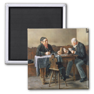 Pay Day, 1887 Square Magnet