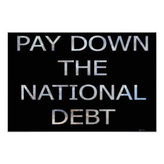 Pay Down the National Debt Poster