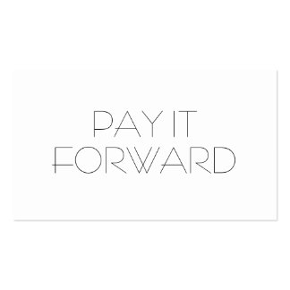PAY IT FORWARD PACK OF STANDARD BUSINESS CARDS