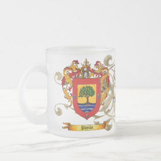 Payan Shield of Arms 10 Oz Frosted Glass Coffee Mug