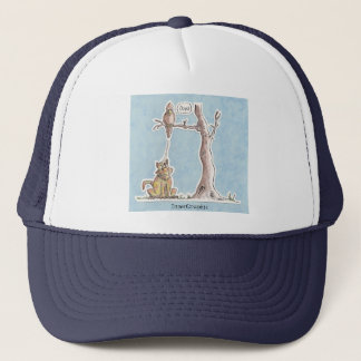 Payback Time - Bird dropping on Cat! Trucker Hat
