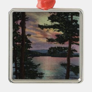 Payette Lake, ID - Evintide on Lake Scene Christmas Ornament