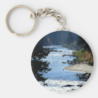 Payette River Basic Round Button Key Ring