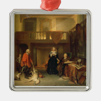 Paying the Tithe (oil on panel) Christmas Ornament
